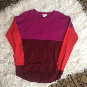 COLDWATER CREEK Colorblock sweater